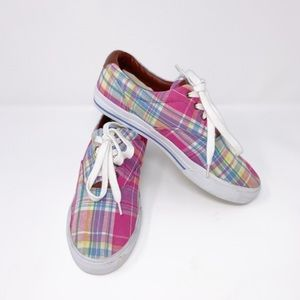 Lauren Ralph Lauren Women's Plaid sneakers Sz9.58